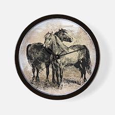 Vintage Horse Love Wall Clock