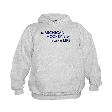 Hockey Michigan Kids Hoodie