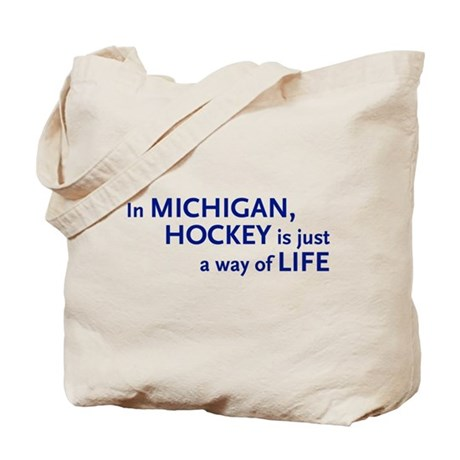 Hockey Michigan Tote Bag