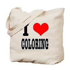 I Heart (Love) Coloring Tote Bag