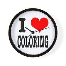 I Heart (Love) Coloring Wall Clock