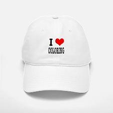 I Heart (Love) Coloring Baseball Baseball Cap
