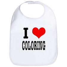 I Heart (Love) Coloring Bib