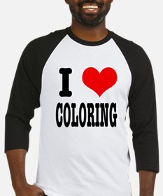 I Heart (Love) Coloring Baseball Jersey