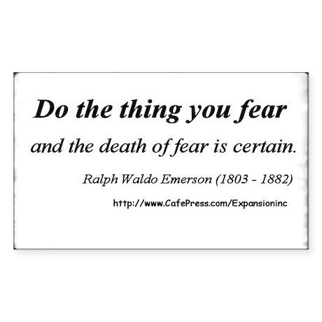 (No Fear - Emerson - A) Sticker (Rect.)