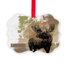 Moose Picture Ornament