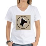 Manchester Terrier Women's V-Neck T-Shirt