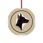 Manchester Terrier Ornament (Round)