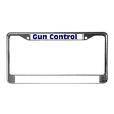 Gun Control Using Both Hands License Plate Frame