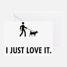 Dog-Walking-AAT1 Greeting Card