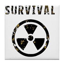 Survival bag Tile Coaster