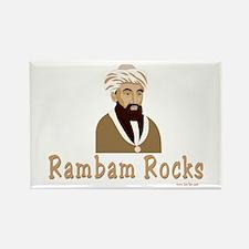 The Rambam Rocks Rectangle Magnet
