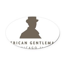 The Gentleman Oval Car Magnet