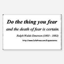 (No Fear - Emerson - A) Sticker (Rect.)