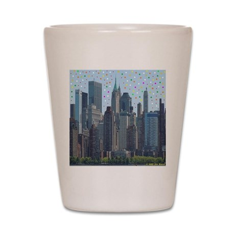 Manhattan Meteor Shower Shot Glass