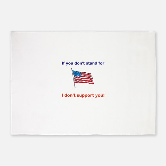 Athletes - Respect our American Flag 5'x7'Area Rug