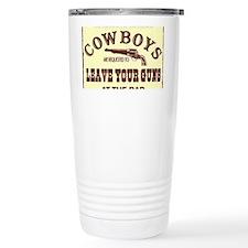 Cowboys leave your guns Travel Mug