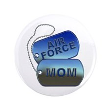 """Air Force Mom - Mother Dog Tag 3.5"""" Button"""