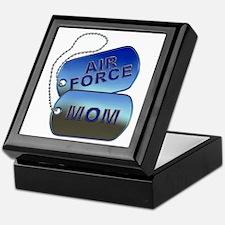 Air Force Mom - Mother Dog Tag Keepsake Box