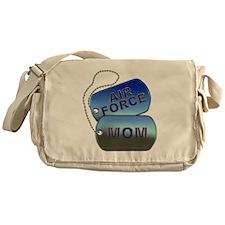 Air Force Mom - Mother Dog Tag Messenger Bag