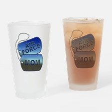 Air Force Mom - Mother Dog Tag Drinking Glass