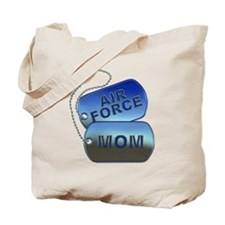 Air Force Mom - Mother Dog Tag Tote Bag