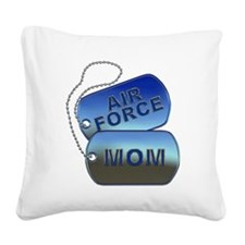 Air Force Mom - Mother Dog Ta Square Canvas Pillow
