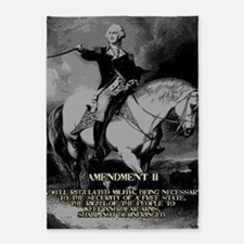 George Washington 2nd Amendment 5'x7'Area Rug