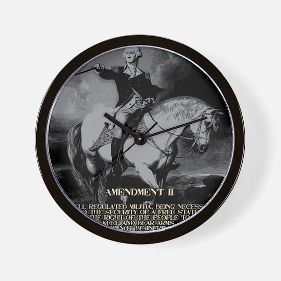 George Washington 2nd Amendment Wall Clock