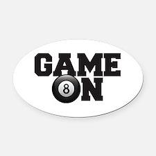 Game On Billiards Oval Car Magnet