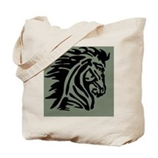 Mustang Silhouette Sage Tote Bag