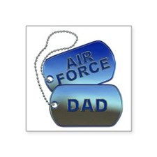 "Air Force Dad - Father Dog  Square Sticker 3"" x 3"""