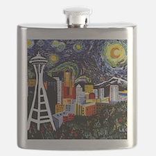 Seattle Starry Night Flask