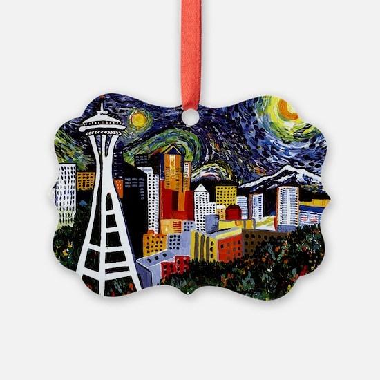 Seattle Starry Night Ornament