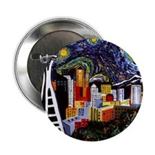 "Seattle Starry Night 2.25"" Button"