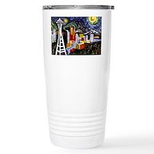 Seattle Starry Night Travel Mug