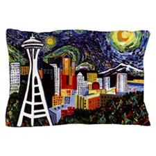 Seattle Starry Night Pillow Case