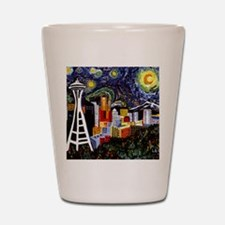 Seattle Starry Night Shot Glass