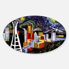 Seattle Starry Night Decal