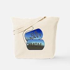 Navy Mom - Mother Dog Tag Tote Bag