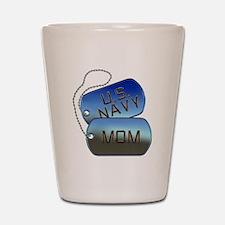 Navy Mom - Mother Dog Tag Shot Glass