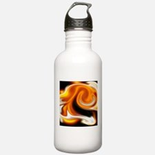 fluid art fire Water Bottle