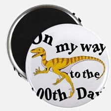 100th Day Dinosaur Magnet