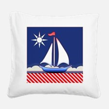 sailboat Square Canvas Pillow