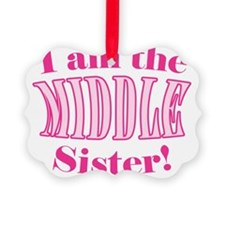 Middle Sister Pink Ornament