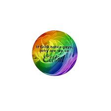 So Cute Rainbow Rose Mini Button