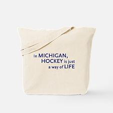 Hockey Michigan Tote Bag