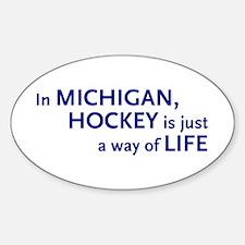 Hockey Michigan Oval Decal