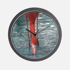 14 Ways of Looking at a Flamingo Wall Clock
