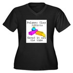 Polymer Clay Addicts Women's Plus Size V-Neck Dark